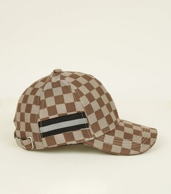 Camel Checkerboard Cap
