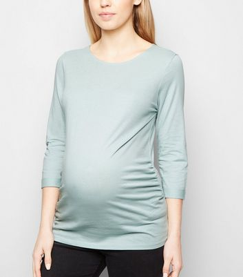 Maternity Mint Green 3/4 Sleeve Top