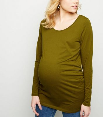 Maternity Olive Long Sleeve Top