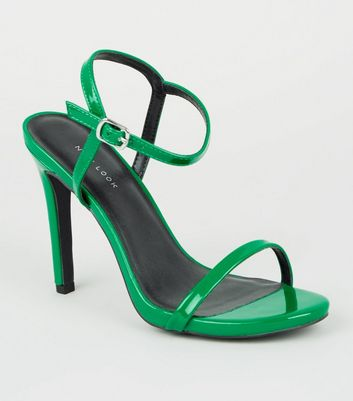 f8adebed71 Dark green patent barely there stiletto sandals new look jpg 720x817 There  stiletto