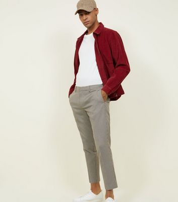Burgundy Corduroy Zip Through Shacket