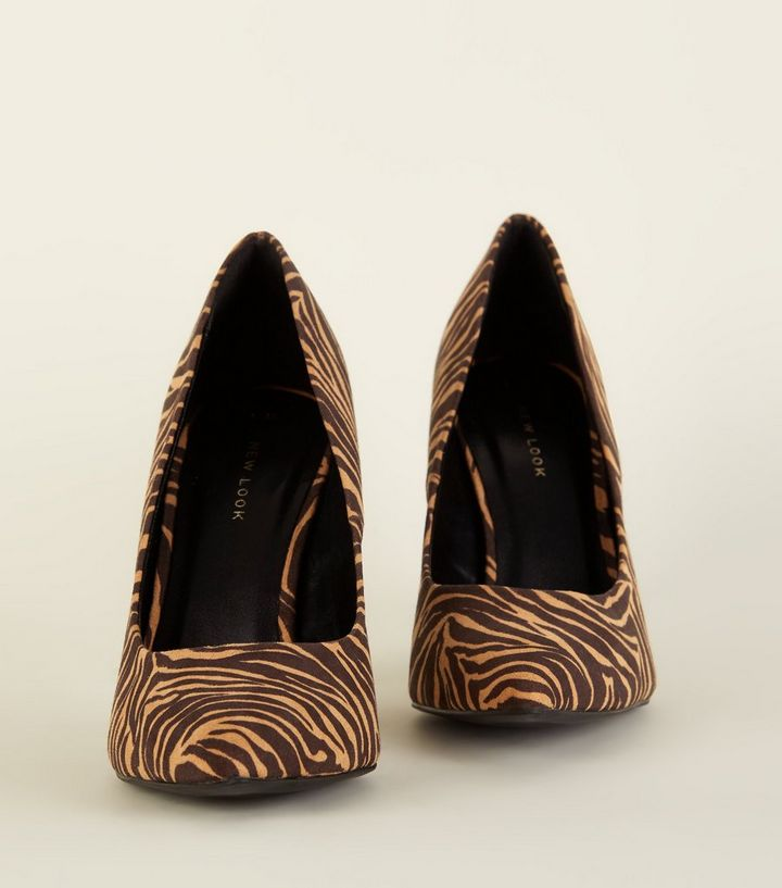 0c0d2948969 ... Brown Zebra Print Pointed Court Shoes. ×. ×. ×. Shop the look