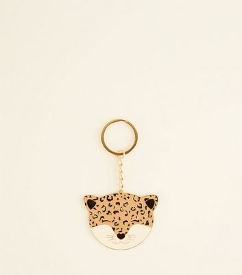 Brown Leopard Keyring