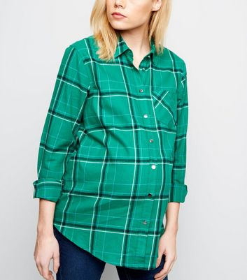 Maternity Green Check Shirt
