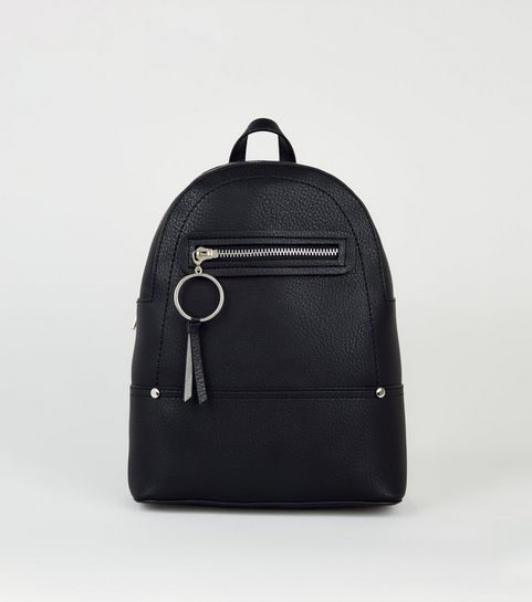 ... Black Ring Zip Utility Mini Backpack ... 11ed6e2dfd45e