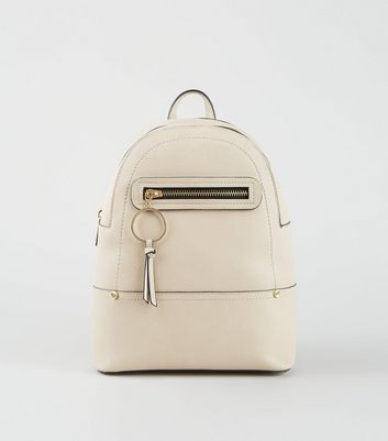 Nude Ring Zip Mini Backpack