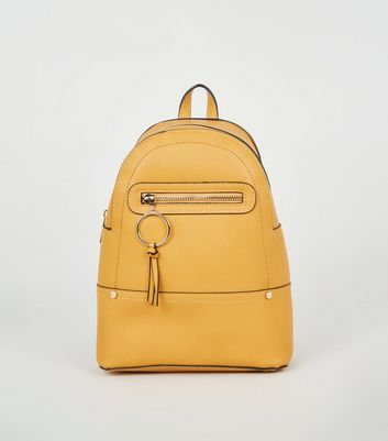 Mustard Ring Zip Utility Mini Backpack