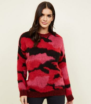 Red Brushed Camo Jumper