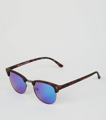 Brown Mirrored Rounded Sunglasses
