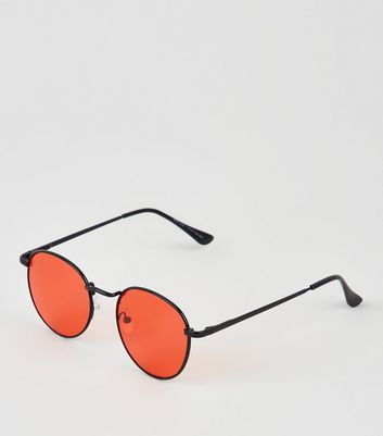 Red Lens Round Sunglasses