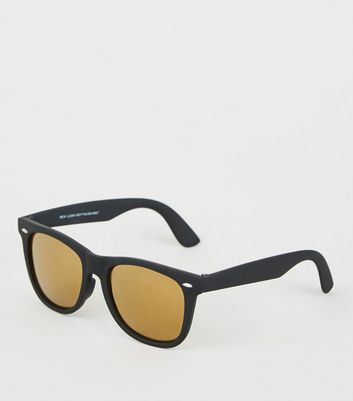 Gold Reflective Lens Sunglasses