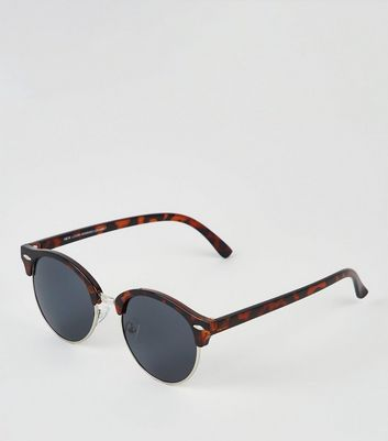 Brown Faux Tortoiseshell Retro Sunglasses