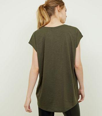 Noisy May Khaki Oversized T-Shirt New Look
