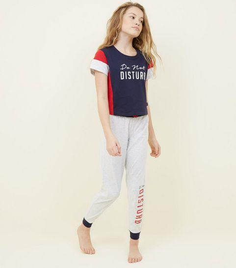 ... Girls Navy Do Not Disturb Pyjama Set ... ed4fe7c24