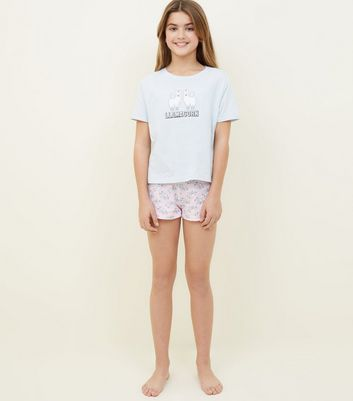 Girls Pink Llamacorn Pyjama Set