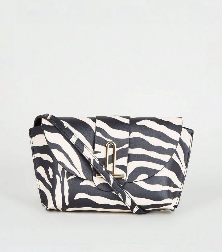 Black Zebra Print Cross Body Bag Add To Saved Items Remove From