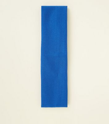 Bright Blue Stretch Jersey Headband