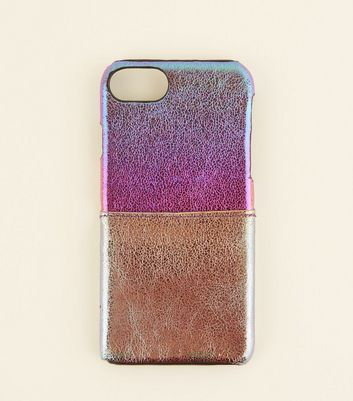 Purple Iridescent Card Holder iPhone 6/6s/7/8 Case
