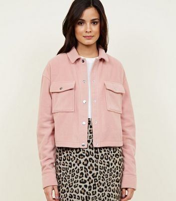 Pink Fleece Utility Jacket
