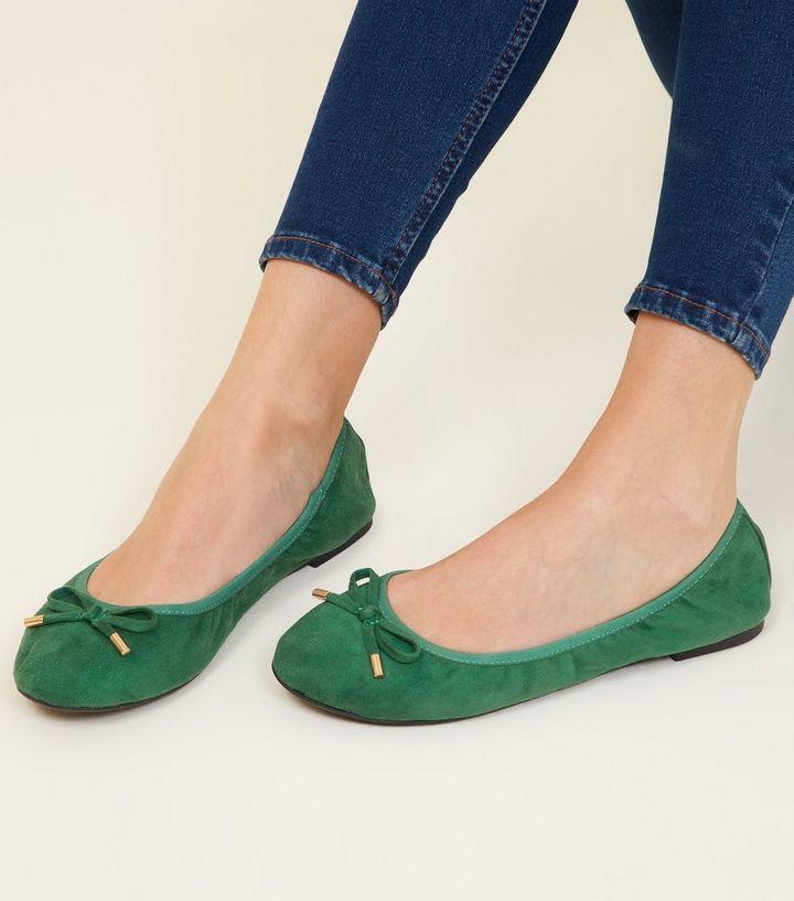 07a205ab113e ... Dark Green Suedette Elastic Ballet Pumps. ×. ×. ×. Shop the look