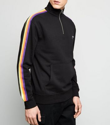 Black Rainbow Stripe Fortune Embroidered Sweatshirt Add to Saved Items Remove from Saved Items