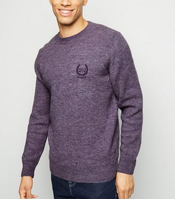 Purple 1992 Crest Embroidered Jumper