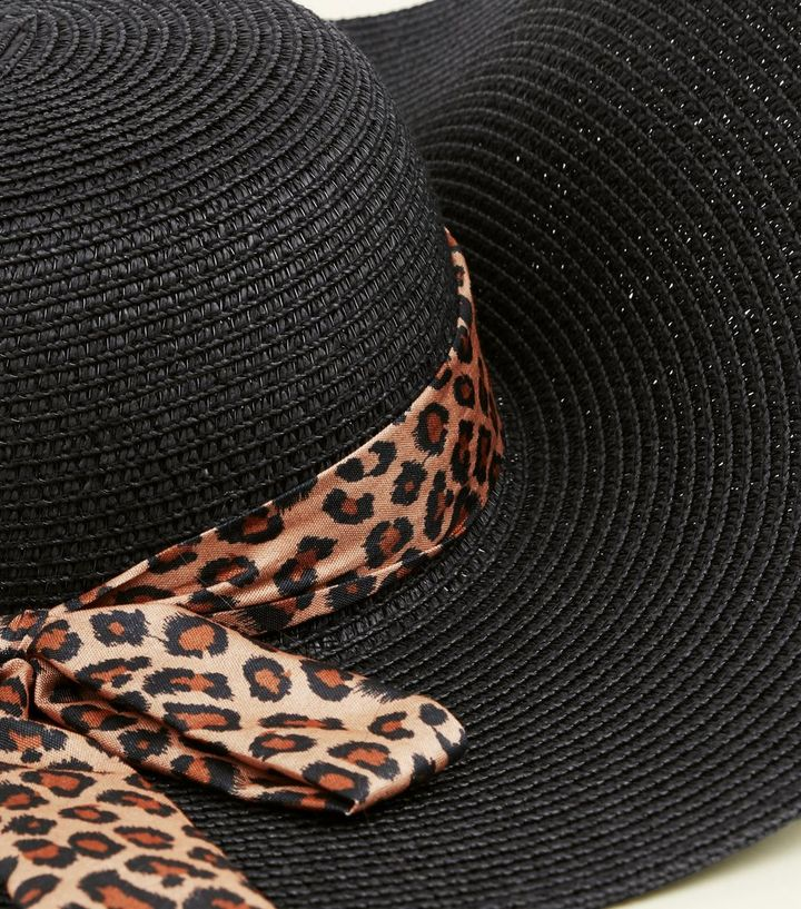 d265b5f5f Brown Leopard Print Ribbon Floppy Hat Add to Saved Items Remove from Saved  Items