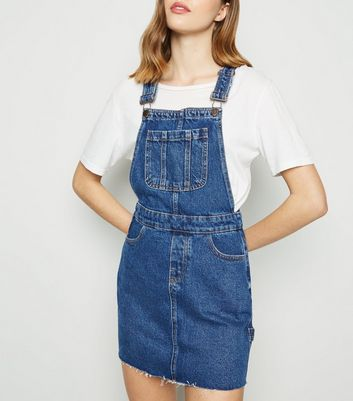 Blue Denim Mini Dungaree Dress