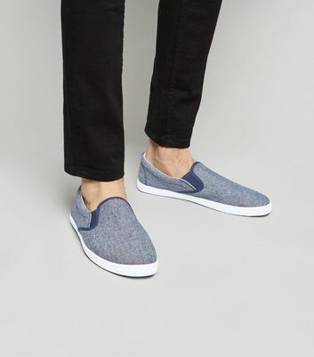 Navy Slip On Trainers