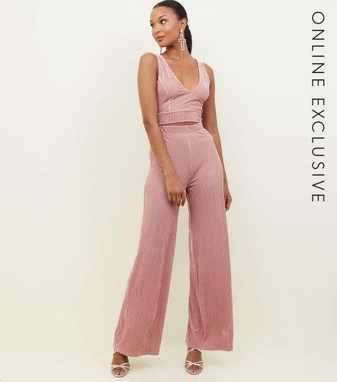 Pink Ribbed Velvet Trousers · Pink Ribbed Velvet Trousers ...