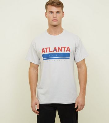 Pale Grey Atlanta Print Logo T-Shirt
