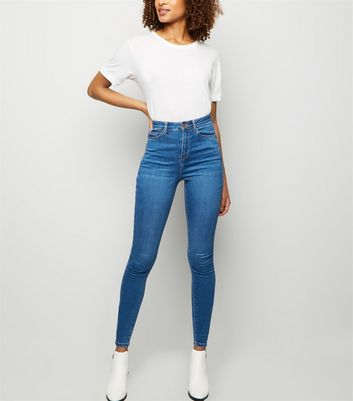 Tall Blue High Waist Skinny 'Lift & Shape' Jeans