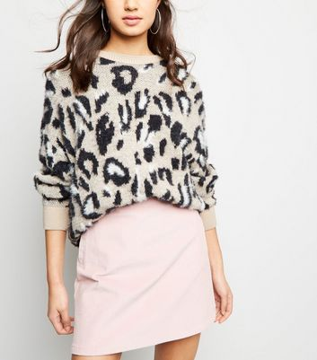 Pale Pink Corduroy Pocket Side Mini Skirt
