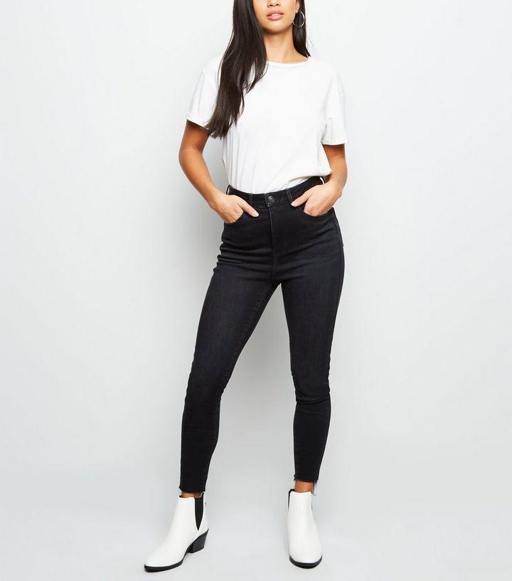 f4fbdf21f015 Petite - Jean skinny noir taille haute sculptant et push-up