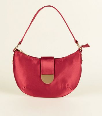 Red Satin Shoulder Bag