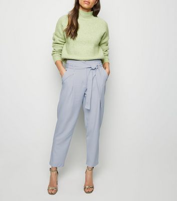 Women's New Paperbag Trousers Look Waist Bag Paper qxqawX8F