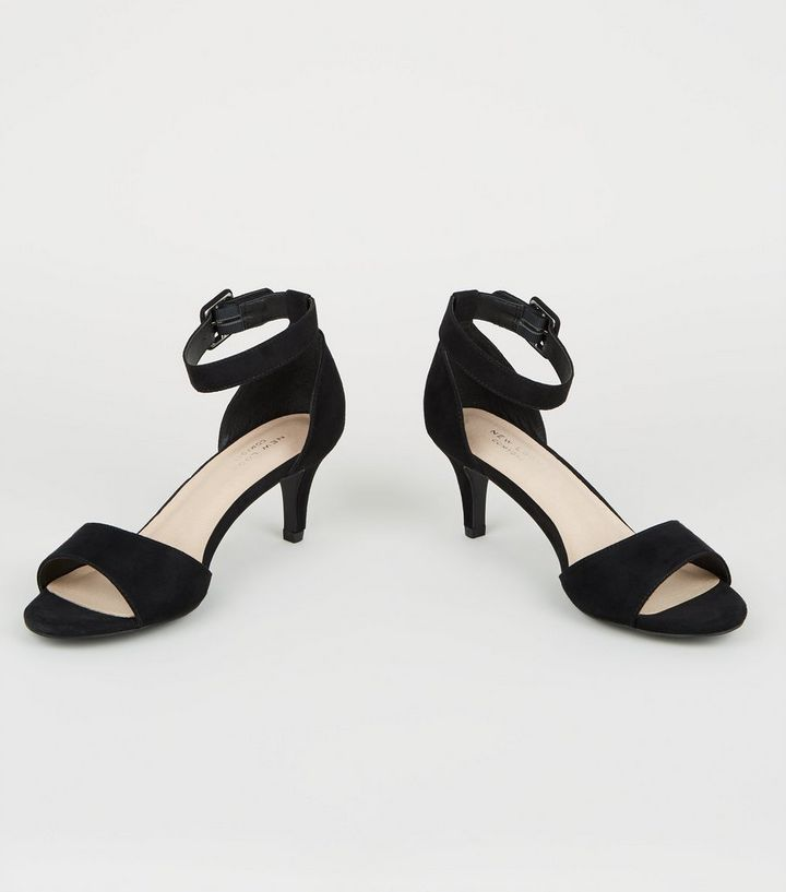 28c605858 ... Black Comfort Flex Suedette Kitten Heel Sandals. ×. ×. ×. Shop the look