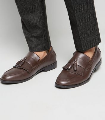 Dark Brown Fringe Tassel Loafers