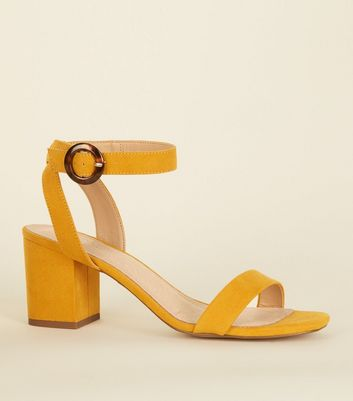 Mustard Comfort Flex Ring Buckle Sandals by New Look