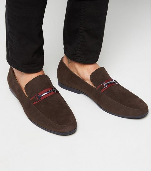 4cc61faed03e36 ... Dark Brown Tape Bar Front Loafers ...