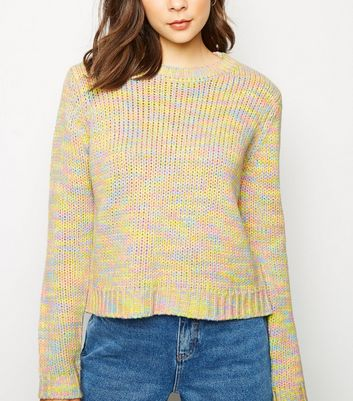 Multicoloured Neon Space Dye Jumper