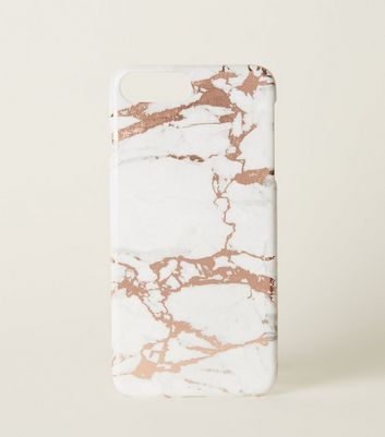 Rose Gold Marble Effect iPhone 6/6s/7/8+ Case