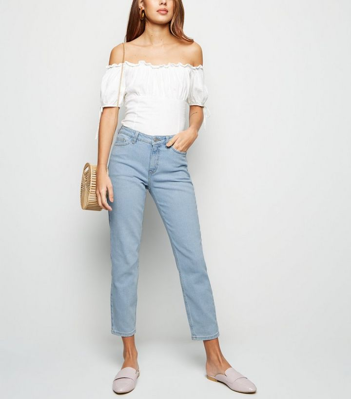 e38c4c9950d256 Pale Blue Relaxed Skinny Leyla Jeans | New Look