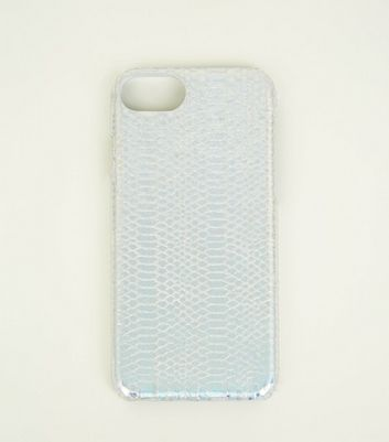 Silver Faux Iridescent Snake I Phone 6/6s/7/8 Case by New Look