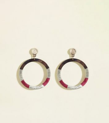 WANTED Silver Thread Wrapped Hoop Earrings