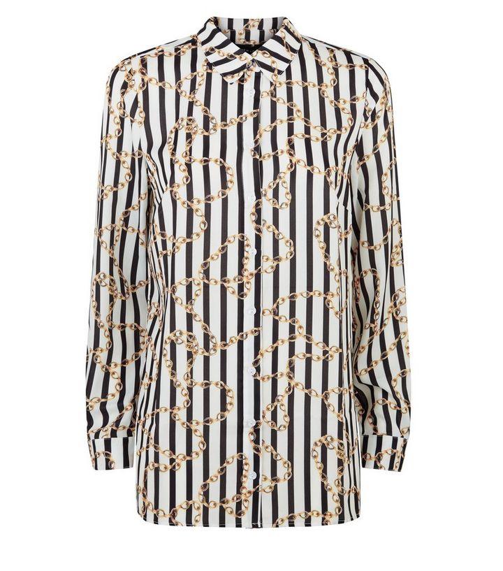 2b6203aa ... White Stripe Chain Print Shirt. ×. ×. ×. Shop the look