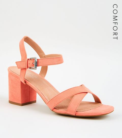 50f1f7038eb ... Coral Comfort Flex Low Block Heel Sandals ...