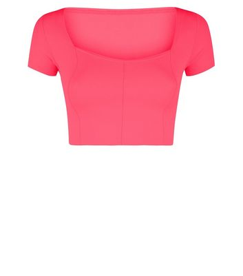 Carpe Diem Bright Pink Crop Top New Look