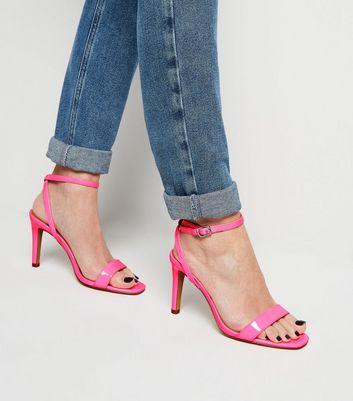 Wide Fit Bright Pink Neon Stiletto