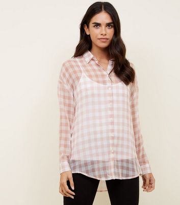 Pink Gingham Sheet Shirt